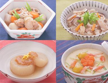 和食のおだしで美味しいお料理